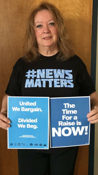 Linda Brady, Unit Chair at the Norristown Times Herald