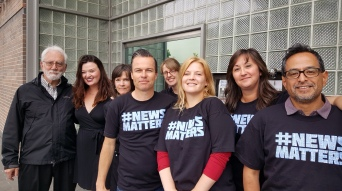 Santa Rosa (CaliforniaPress Democrat workers supporting DFM Guild workers and #NewsMatters Day